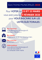 Affiche Inscription listes electorales